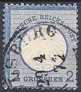 Germania  - 1872 Aquila Con Piccolo Scudo 2gr Azzurro # Michel 5 - Scott 5 - Unificato 5 - Usato - Germania