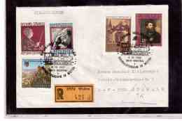 TEM9207   -    WEITRA  4.10.92   /   REGISTERED COVER WITH INTERESTING POSTAGE -  90 JAHRE WALDWERTLER - Trains