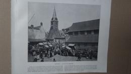 Photo - REPRODUCTION - RECTO : Honfleur Place Du Marché / VERSO : Gorges De Durnand (grand St Bernard) - Reproductions