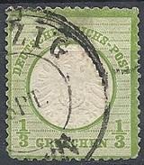 Germania  - 1872 Aquila Con Grande 1/3gr Verde Giallo # Michel 17 - Scott 15 - Unificato 14 - Usato - Germania