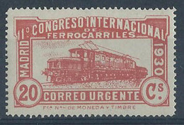 ES482FSFT-LFT***482FTTT.España.Spa In.Espagne.TREN. Locomotora COCODRILO.CONGRESO  DE.FERROCARRILES.1930  (Ed 482F**) - Trenes