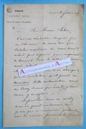 L.A.S 1869 JFJ DAUBY - Régie Du Moniteur Belge - A M. Lebon - Bruxelles Belgique - Lettre Autographe LAS - Autographes