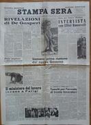 """""""STAMPA SERA"""" - 4-5 GIUGNO 1947-RIVELAZIONI DI DE GASPERI - CICLISMO SERVIZIO SULLA TAPPA DI BARI - (4 PAGINE ORIGINALI) - Libri, Riviste, Fumetti"""