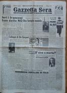 """""""GAZZETTA  SERA"""" - 6-7 MAGGIO 1946-VITA E MIRACOLI DI UN CHILO DI ZUCCHERO-(4 PAGINE ORIGINALI) - Libri, Riviste, Fumetti"""