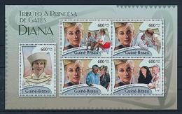 [48731] Guinea Bissau 2012 Princess Diana Pope Mother Teresa MNH Sheet - Royalties, Royals