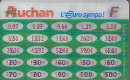 Convertisseur Franc Euro Holographique Auchan - Autres Collections