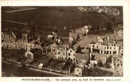 Oradour Sur Glane Vue Aerienne Avec Au Fond Le Cimetiere - Oradour Sur Glane