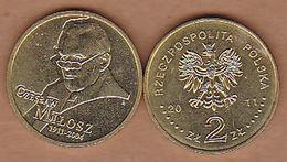 AC -  POLAND CZESLAW MILOSZ 2 ZILOTY 2011 COMMEMORATIVE COIN UNCIRCULATED - Poland