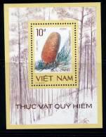 Vietnam Viet Nam MNH Perf Souvenir Sheet 1986 : Precious & Rare Flora (Ms510B) - Vietnam
