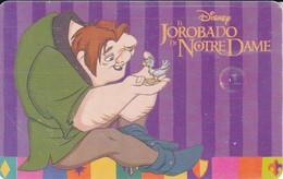 TARJETA DE ARGENTINA DE EL JOROBADO DE NOTRE DAME (DISNEY) - Disney