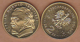 AC -  POLAND CYPRIAN NORWID 2 ZILOTY 2013 COMMEMORATIVE COIN UNCIRCULATED - Poland