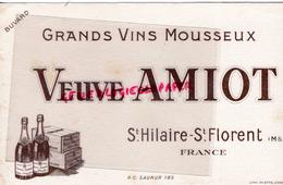 49 - SAINT HILAIRE SAINT FLORENT- BUVARD VEUVE AMIOT - VINS MOUSSEUX-IMPRIMERIE MIETTE ANGOULEME - Menus