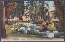 = Vichy Le Bassin Des Cygnes Et Les Flamants  2.VII.39 Timbre N° 413 - Vichy