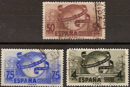 España U 1063/1065 (o) UPU. 1949 - 1931-Aujourd'hui: II. République - ....Juan Carlos I
