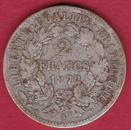 France 2 Francs Argent Cérès 1872 K - France