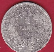 France 2 Francs Argent Cérès 1881 A - France