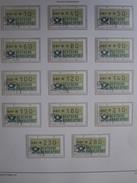Bund Automatenmarken 198 , Komplett (14 Werte)  ,  Gestempelt , Einwandfrei - BRD