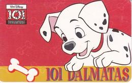 TARJETA DE ARGENTINA DE DISNEY DE LOS 101 DALMATAS (PERRO-CAN-DOG)