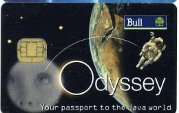 CARTE A PUCE BULL ODYSSEY LUNE ESPACE - Telefonkarten