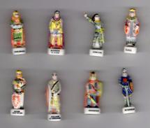 Série Complète 8 Fèves LES GRANDES FIGURES DE L'HISTOIRE - NORDIA 1997 Jeanne D'arc, Vercingétorix, Clovis, Etc - History