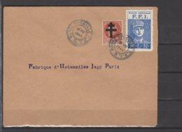 Emission M.L.N - Bleu Sur Lettre Avec 1Fr50 Pétain Surchargé - - Libération