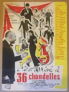 Affiche Cinéma Originale Du Film C'EST ARRIVE A 36 CHANDELLES 1957 De HENRI DIAMANT-BERGER Avec ANNE SOURZA GUY BERTIL - Posters