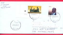 SOUTH SUDAN Cover Postally Used To NL In Nov 2011  W/ Mixed Postage  3.5 SSP Dr John Garang And 3.5 SDG Sudan Stamp - Zuid-Soedan