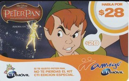 TARJETA DE ARGENTINA DE PETER PAN DE 28$  (DISNEY)