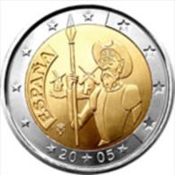2 Euro Cc   Espanha    2005   Unc - Spain