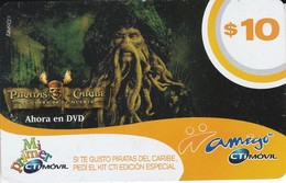 TARJETA DE ARGENTINA DE PIRATAS DEL CARIBE (CINEMA-CINE)