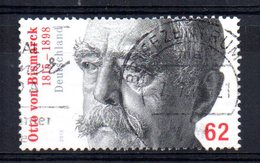 Germany - 2015 - 200th Birth Anniversary Of Otto Von Bismarck (Ordinary Perfs) - Used - [7] République Fédérale