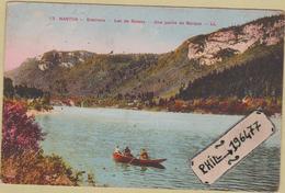 01 Environs De Nantua - Cpa / Lac De Sylans - Une Partie De Barque. - Nantua