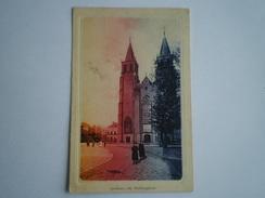 Arnhem // St.Walburgkerk (aparte Kleurstelling) Gelopen 1910 - Arnhem