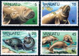 VANUATU 1988 Dugong, WWF, Fauna MNH - Vanuatu (1980-...)