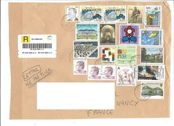Lot De 16 Timbres LUXEMBOURG Sur Fragment - Voir Scan - Used Stamps
