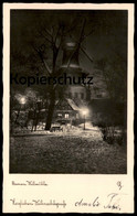 ALTE POSTKARTE BREMEN WALLMÜHLE BEI NACHT IM SCHNEE Moulin à Vent Windmill Molen Ansichtskarte Postcard AK Cpa - Moulins à Vent