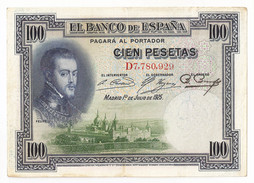 España - 100 Pesetas - 1925 - [ 1] …-1931 : First Banknotes (Banco De España)