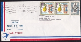 Tunisia: Airmail Cover To Germany, 1972, 3 Stamps, Pear, Fruit, Expo Montreal, Microscope (minor Damage) - Tunesië (1956-...)