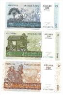 Madagascar 2004 Set 100 - 200 - 500 Francs  UNC .S. - Madagascar