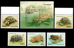 Azerbaijan 1995 Aserbaidschan Mi 213-227 + Block 13(228) Turtles / Schildkröten **/MNH - Tortues