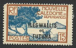 Wallis And Futuna, 15 C. 1930, Sc # 49, MH - Unused Stamps