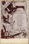 Menu Photo Sur Carton Cabinet Size Juillet 1893 - Menus