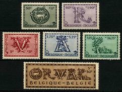 BELGIQUE - YT 625 à 630 ** - SERIE COMPLETE 6 TIMBRES NEUFS ** - Belgio
