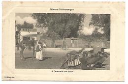 CPA MAROC - AL'ATTENTE DE SON EPOUX?  CHEVAL DROMADAIRES - Marokko