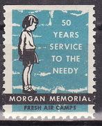 USA HOLIDAY GREETINGS MORGAN MEMORIAL  VIGNETTE,CINDERELLA,LABEL - United States