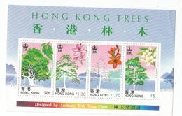 1988 Hong Kong Trees Souvenir Sheet MNH - Bäume