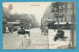 CPA TOUT PARIS 230 - Rue De La Roquette Marché XIème Arrt. Edition FLEURY - Arrondissement: 11