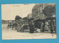 CPA TOUT PARIS 232 - Le Marché Cours De Vincennes Pont Du Chemin De Fer De Ceinture XIIème Et XXème Arrt. Edition FLEURY - District 12