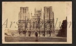 Photo-carte De Visite / CDV / W / 2 Scans / England / R. Wilkinson / Trowbridge Wilts / Wells Cathedral / Somerset - Lieux