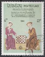 540 Laos 1984  Miniatura Medioevale Gioco Scacchi - Illustrations Chess Games Lao - Scacchi
